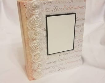 Wedding album, wedding scrapbook album, wedding mini album, wedding photo album, wedding book, wedding memory book, wedding gift