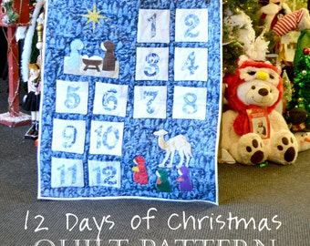 12 Days of Christmas Quilt Pattern: Teaching the Nativity through Epiphany