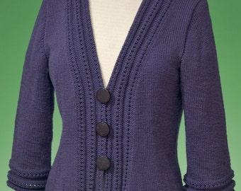 PDF Knitting Pattern Top-Down Cardigan #171