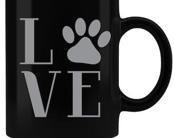 Love Paws Personalized Custom Laser Engraved Coffee Mug