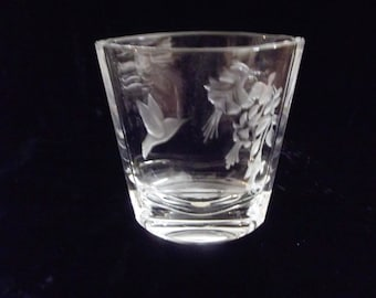 Lead crystal hummingbird vase, item # 32
