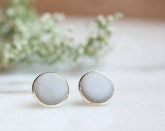 Concrete Earrings Circle Stud