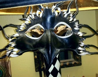 VINTAGE HANDMADE LEATHER Mask