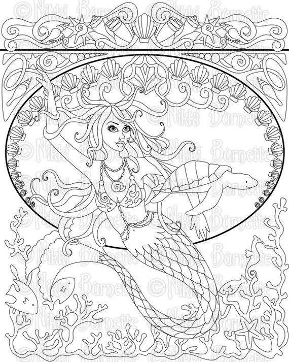 Digital Stamp Printable Coloring Page Adult Coloring Page