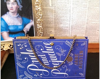 Book Clutch Pride and Prejudice by Jane Austen Literary Vintage Book Purse Made to Order