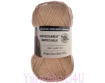 SOFT TAUPE Impeccable Yarn, Loops & Threads, Beige Tan. Brown Impeccable Yarn, Knitting yarn, Crochet yarn, Brown acrylic yarn, Light Brown
