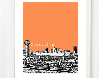Knoxville, Tennessee Poster -  Knoxville City Skyline Art Print - Knoxville, TN