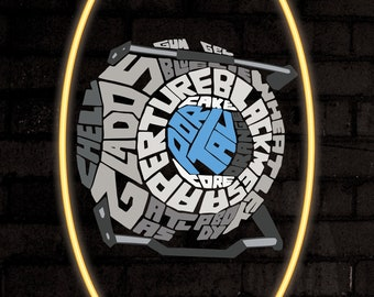 Portal Wheatley A3 Poster