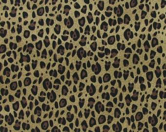 Cheetah Animal print Fabric 100% Cotton Quilting Apparel Crafts Home decor