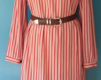 Vintage striped red and white dress
