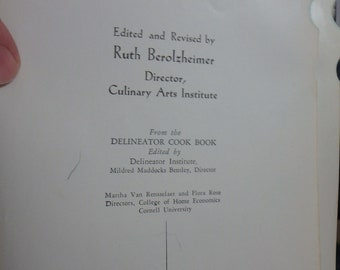 1939 The American Woman's cook Book by ruth Berolzheimer