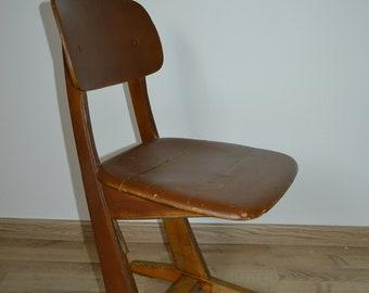 Lovey Vintage Child/ Kids Wooden School Chair