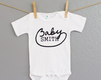 Personalized White Baby Onesis Cute Baby Onesi, Personalized Baby, Kids Clothes, Baby Clothes, Baby Apparel, Baby Boy, Baby Girl, baby gift