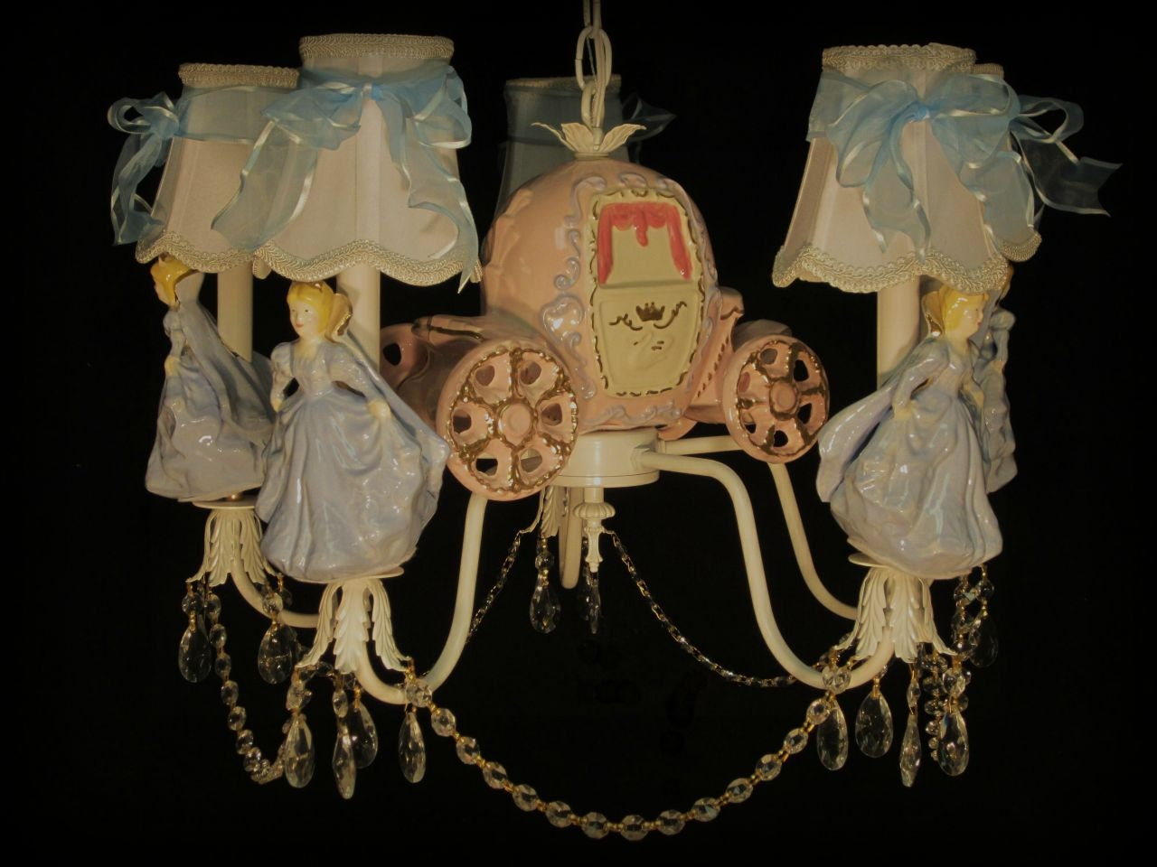 Cinderella princess chandelier girls room lighting zoom mozeypictures