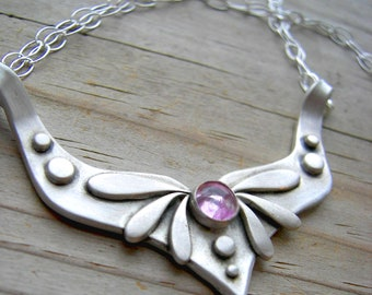 Eos Goddess of the Dawn Sterling Silver Fluorite Necklace