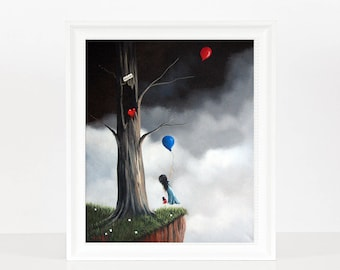 I've Been Waiting For You - Surrealism Art - Limited Edition - Girl With Heart Pet - Art - Fantasy Art - Last Ones - Dreamy Art