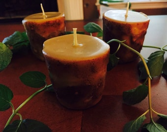 100% Pure Beeswax Spell Candle 3oz Votives