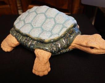 Large Hand painted Ceramic Turtle