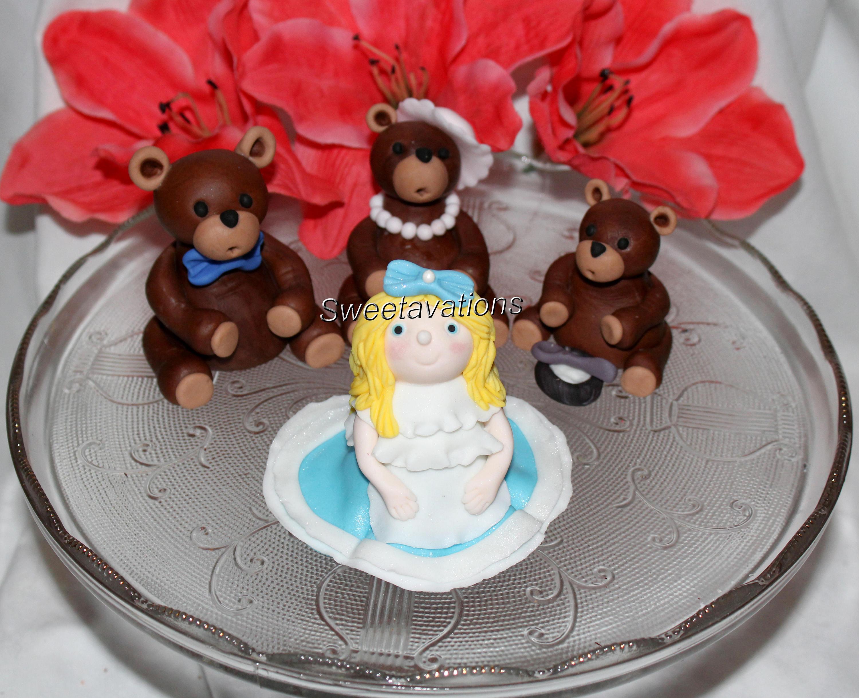 Fondant Goldilocks Fondant Goldilocks The Three Bears Fondant