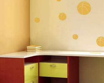 Basketballs Sports Wall Decal