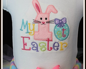 My First 1st Easter pink Bunny bodysuit personalized