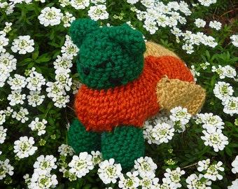 Flower cat / Mythical kittens / crochet cat plushy / garden cat