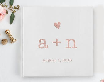 Wedding GuestBook, Rose Gold Foil Guest Book, Photo Guest Book, Photo Booth Guest Book, Real Rose Gold, Wedding Guest Book, Album,  10