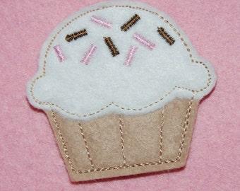 Wool Felt Sprinkle Cupcake Hair Clip by Chic Baby Rose