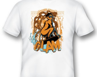 Glam surf monkey tee shirt