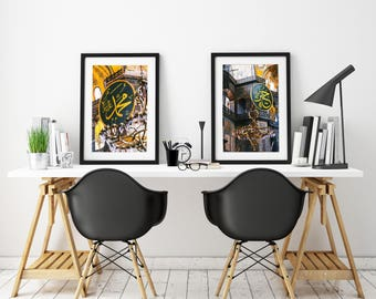 Diptych - Set of two Photography Fine Art of the mosque Aya Sofya Istanbul in Turkey - wall decor - travel