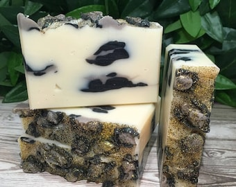 Wild | Handcrafted Artisan Soap | Champagne | Cold Process Soap | Free Shipping | Luxury | Animal Print | Gift for Her | Home Decor