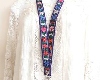 Fabric Lanyard, Teacher Lanyard, ID Badge Holder, Key Holder, Floral Lanyard,  Purple Keychain Lanyard, Swivel Clasp Lanyard