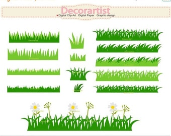 ON SALE grass clipart, grass border clipart , card making, border clipart , INSTANT Download