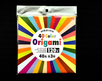 40 Color Origami Paper - Chiyogami - Yuzen - Japanese Paper - Origami 40 Patterns 120 Sheets 15cm 5.9inch (P38)