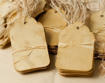 Coffee stained tags vintage inspired for weddings or gift wrapping. Primitive tags, antique tags \ Wedding wish tree tags, Apothecary jars