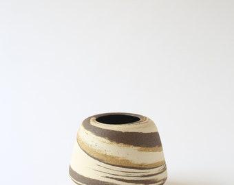 small ceramic marbled stoneware vase