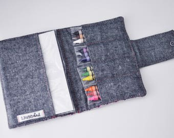 Crayon Wallet / Crayon Holder/ Gift for Child / Art Case