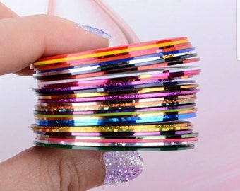 30 pcs Random Pick Nail Striping Tape