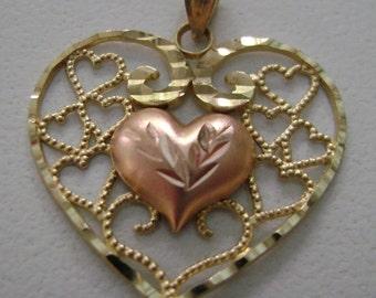 10 karat gold charm or pendant Heart