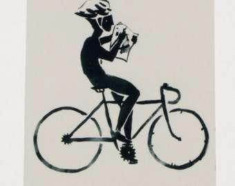 Bicycle screenprint, 25 x 17
