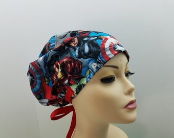 Women's surgical scrub hats, or scrub caps-Avengers  Collection