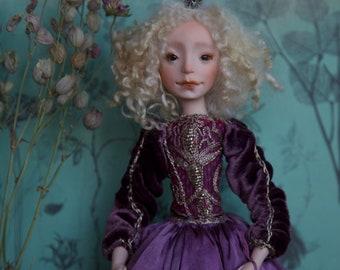 Viola, handmade OOAK art doll.
