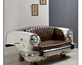 Taxi Car Leather Sofa Couch Recycled from Auto Parts