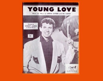Young Love Original 1956 Sheet Music Sonny James Capitol Records