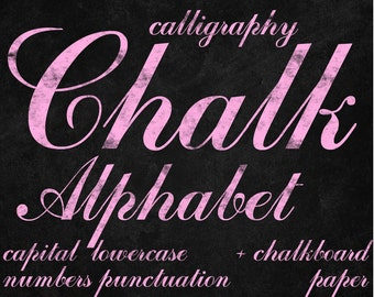 Digital Pink Chalkboards Alphabet for scrapbooking, chalk clipart, Papercrafts, Wedding Decor, Instant Download, printable lettering (15)
