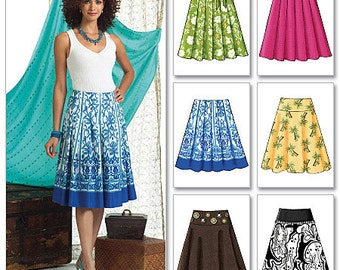Butterick Sewing Pattern B4686 Misses' Pleated or Flared Skirts