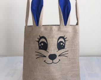 Dark Blue Easter Bunny Bag