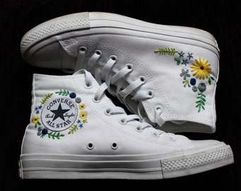 Floral Embroidered Custom Converse