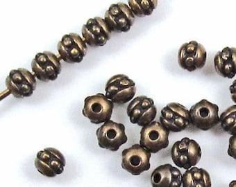 TierraCast Pewter Beads-Brass Oxide BEADED SEED BEAD 3mm (50)