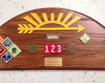 Aol Award Oak Plaque #3